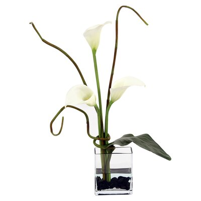 <strong>Distinctive Designs</strong> Silk Arrangement in Rectangular Glass