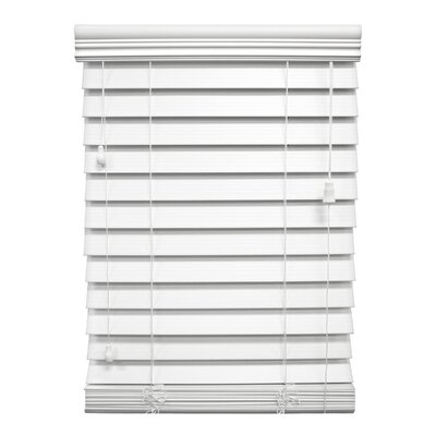 "Wildon Home ® Faux Premium Wood Blind - 84"" H"