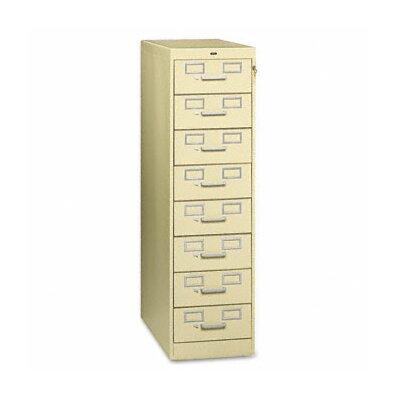 Tennsco Corp. Tennsco Eight-Drawer Multimedia Filling Cabinet