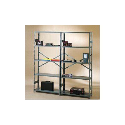 "Tennsco Corp. Commercial 75"" H 4 Shelf Shelving Unit Starter"