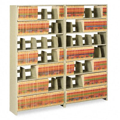 Tennsco Corp. Snap-Together Open Shelving Steel 6-Shelf Closed Starter Set