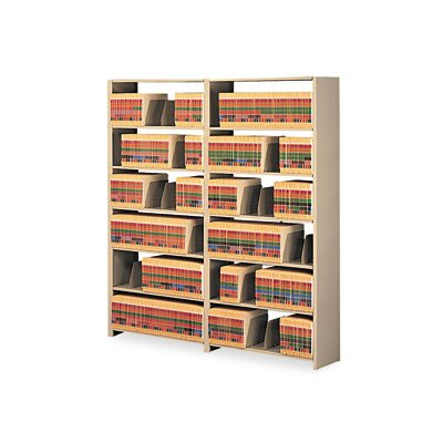 "Tennsco Corp. Snap-Together Open Shelving Steel 7-Shelf Closed Add-On Unit, 48"" Wide"
