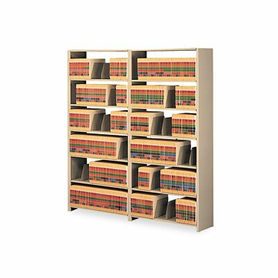 Tennsco Corp. Snap-Together Open Shelving Steel 7-Shelf Closed Add-On Unit