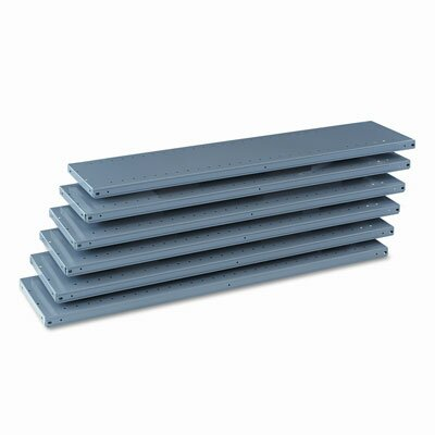 Tennsco Corp. Industrial Steel Shelving for 87 High Posts, 48W X 12D, 6/Carton