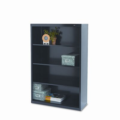Tennsco Corp. Metal Bookcase, 4 Shelves, 34-1/2W X 13-1/2D X 52-1/2H