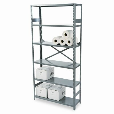 "Tennsco Corp. Commercial 75"" H 6 Shelf Shelving Unit Starter"