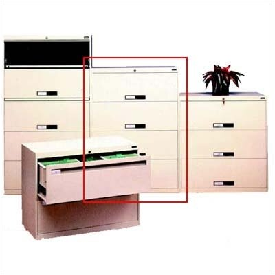 Tennsco Corp. Lateral File With 4 Drawers and Fixed Drawer Fronts