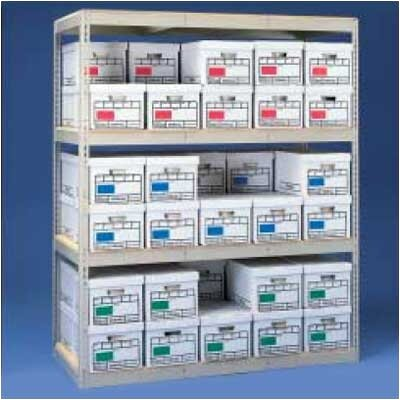 Tennsco Corp. Archive Box Storage Rack with Particleboard Decking