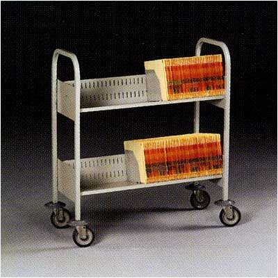 Tennsco Corp. Filing Cart, 2 Shelves