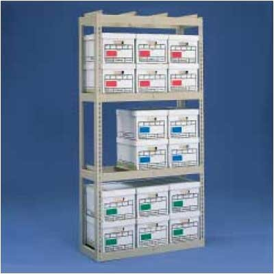 Tennsco Corp. Archive Box Storage Rack With Angle Box Supports