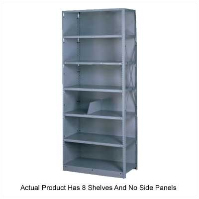 "Tennsco Corp. Q Line Open 87"" H 7 Shelf Shelving Unit Starter"