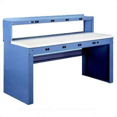 Tennsco Corp. Electronic Workbench, Maple Laminate Top