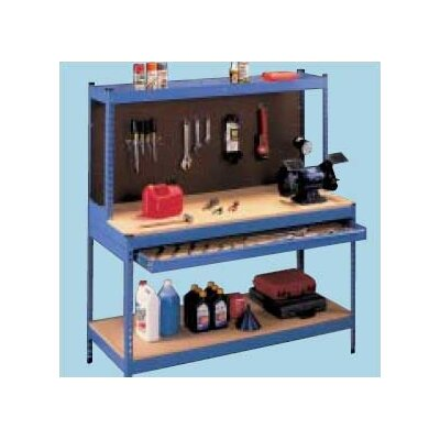 Tennsco Corp. Rivet Style Workbench With Half Width Drawer