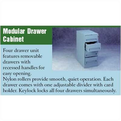 Tennsco Corp. Modular Drawer Cabinet