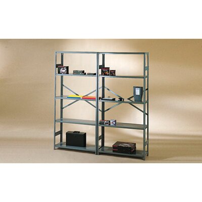Tennsco Corp. Commercial Steel Shelving in Medium Gray
