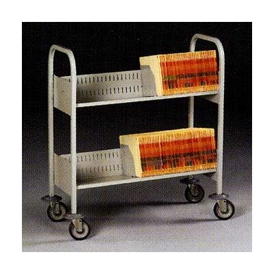 Tennsco Corp. Filing Cart, 4 Extra Deep Shelves