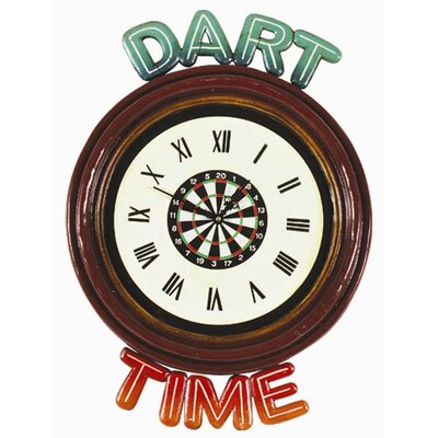 RAM Gameroom Products Dart Time Clock Pub Sign