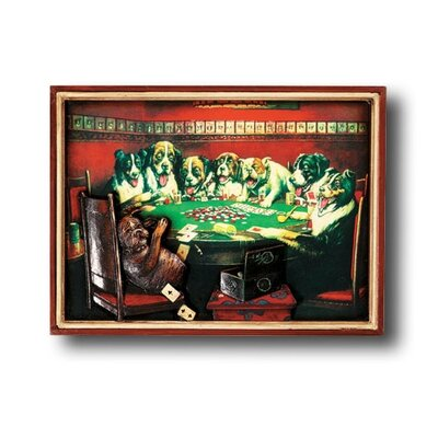RAM Gameroom Products Hand-Carved Poker Dogs Under the Table Picture
