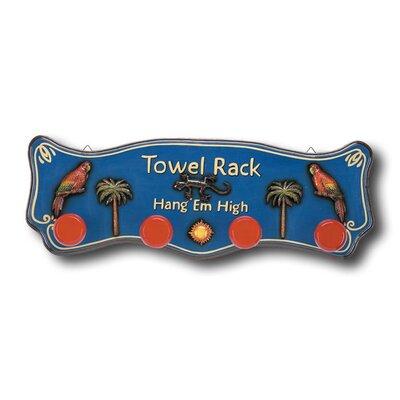 ram gameroom outdoor hang 39 em high tropical towel rack reviews wayfair. Black Bedroom Furniture Sets. Home Design Ideas