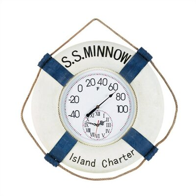 "RAM Gameroom Products Outdoor ""S.S. Minnow""  Wall Clock"