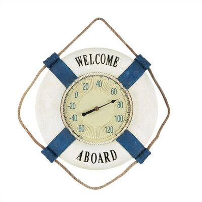"RAM Gameroom Products ""Welcome Aboard"" Outdoor Thermometer"
