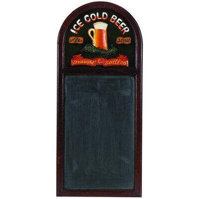 RAM Gameroom Products Hand-Carved 'Ice Cold Beer' Sign