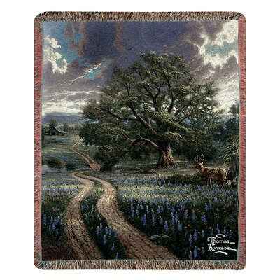 Manual Woodworkers & Weavers Country Living Tap Tapestry Cotton Throw
