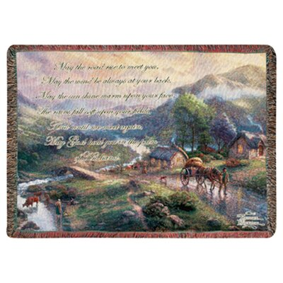 Manual Woodworkers & Weavers Emerald Valley Tapestry Cotton Throw