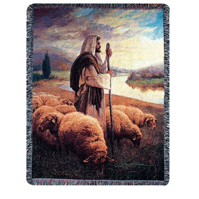 Manual Woodworkers & Weavers Good Shepherd Tapestry Cotton Throw