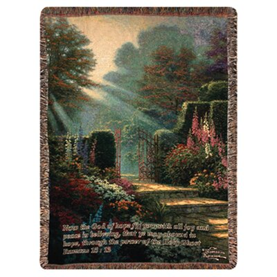 Manual Woodworkers & Weavers Garden of Grace Verse Tapestry Cotton Throw