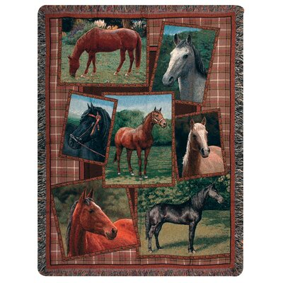 Manual Woodworkers & Weavers Horsing Around Tapestry Cotton Throw
