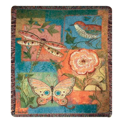 Manual Woodworkers &amp; Weavers Nature Brights Tapestry Throw