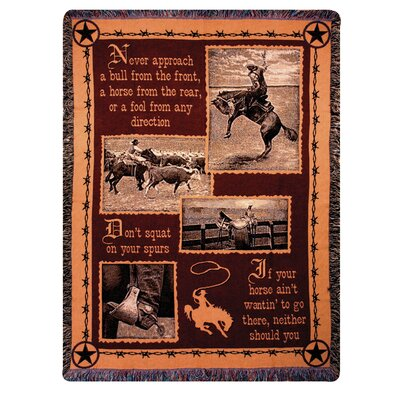 Manual Woodworkers & Weavers Saddlebag Quotes Tapestry Cotton Throw