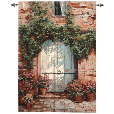 Wooden Doorway Tapestry