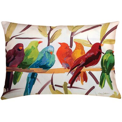 Manual Woodworkers & Weavers Flocked Together Birds Pillow