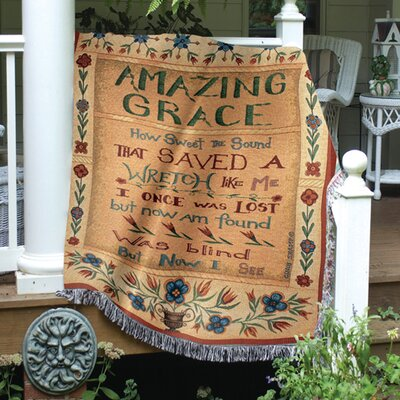 Manual Woodworkers & Weavers Amazing Grace Tapestry Cotton Throw