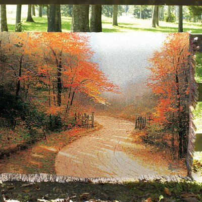 Autumn Lane Tapestry Cotton Throw