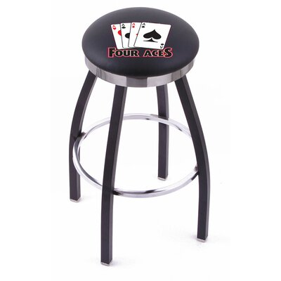 Holland Bar Stool Gambling Single Chrome Ring Swivel Barstool