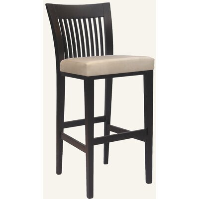 Holland Bar Stool Designer Mason Solid Hardwood Stationary Bar Stool