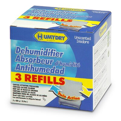 Humydry Refill 15.9 oz. Unscented Moisture Absorber (Pack of 3)