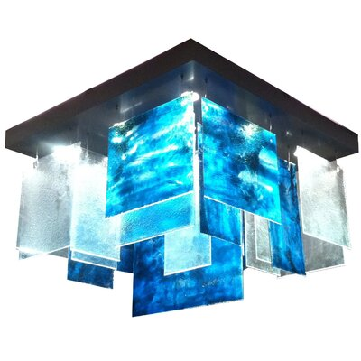 Light In Art by Shimal'e Peleg Plice 6 Light Kitchen Island