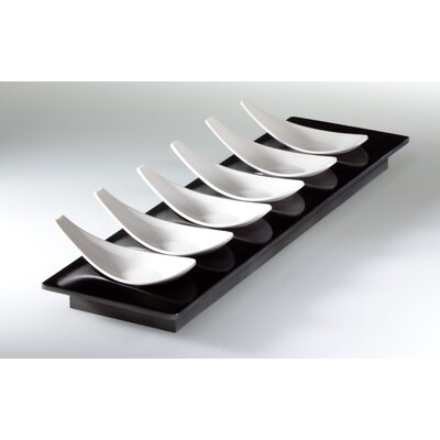 MEBEl Small Entities Rectangular Finger Food Set with 6 Spoons