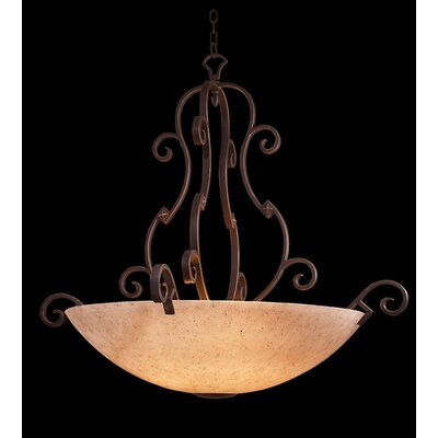 Kalco Ibiza 6 Light Bowl Inverted Pendant