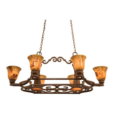 Avondale Hanging Pot Rack with 6 Light
