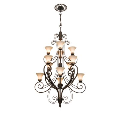Kalco Mirabelle 12 Light Chandelier