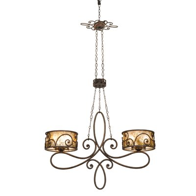 Windsor Ten Light Kitchen Island Light in Antique Copper