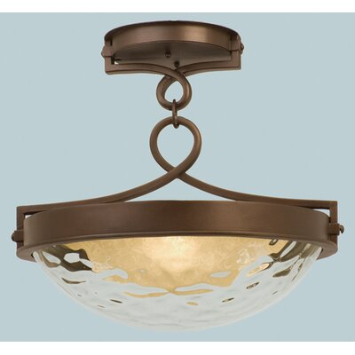 Kalco Newport 3 Light Semi Flush Mount