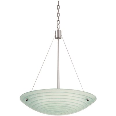 Kalco Aqueous 5 Light Bowl Inverted Pendant