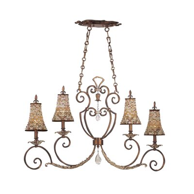 Chesapeake Four Light Kitchen Island Light in Tuscan Gold