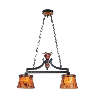 Kalco Marlowe 2 Light Kitchen Island Pendant in Ebony